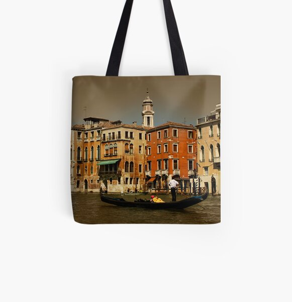 Gondala in Venice, Italy All Over Print Tote Bag