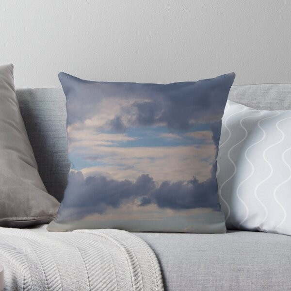 Window to the sky , clouds via  Mt. Barney  Throw Pillow