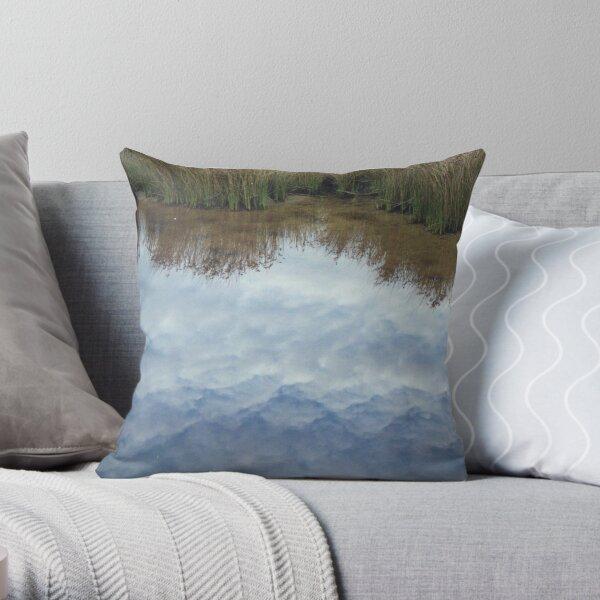 cloudy creek Throw Pillow