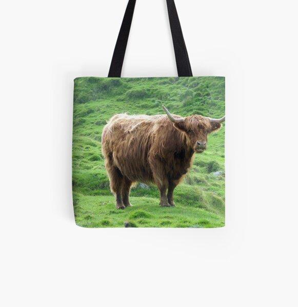 Highland Coo All Over Print Tote Bag