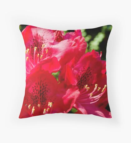 Rhododendron detail Throw Pillow