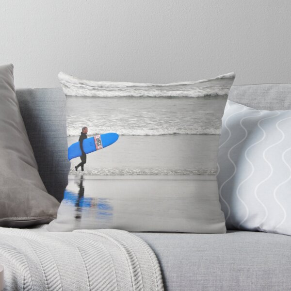 Surfing Reflections Throw Pillow