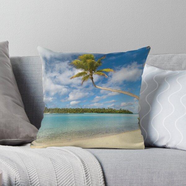 One Foot Island, Aitutaki. Throw Pillow