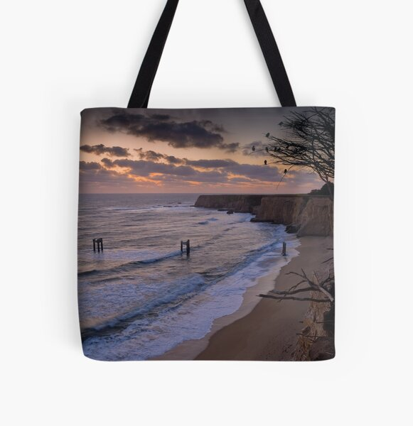 Last Light over Cypress Cliffs All Over Print Tote Bag