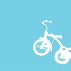 White Trike on Blue by Starsania