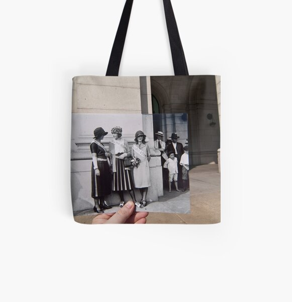 Looking Into the Past: Beauty Pageant Winners, Union Station, Washington, DC All Over Print Tote Bag