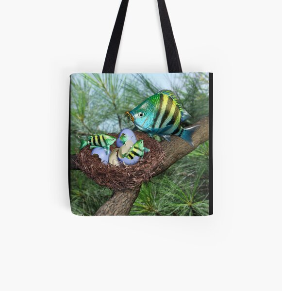 Ocean Invasion #3: First Breakfast All Over Print Tote Bag