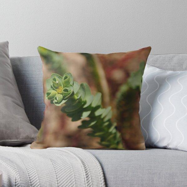 Sea Spurge Throw Pillow