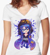 Splatoon: Inkshot Women's Fitted V-Neck T-Shirt