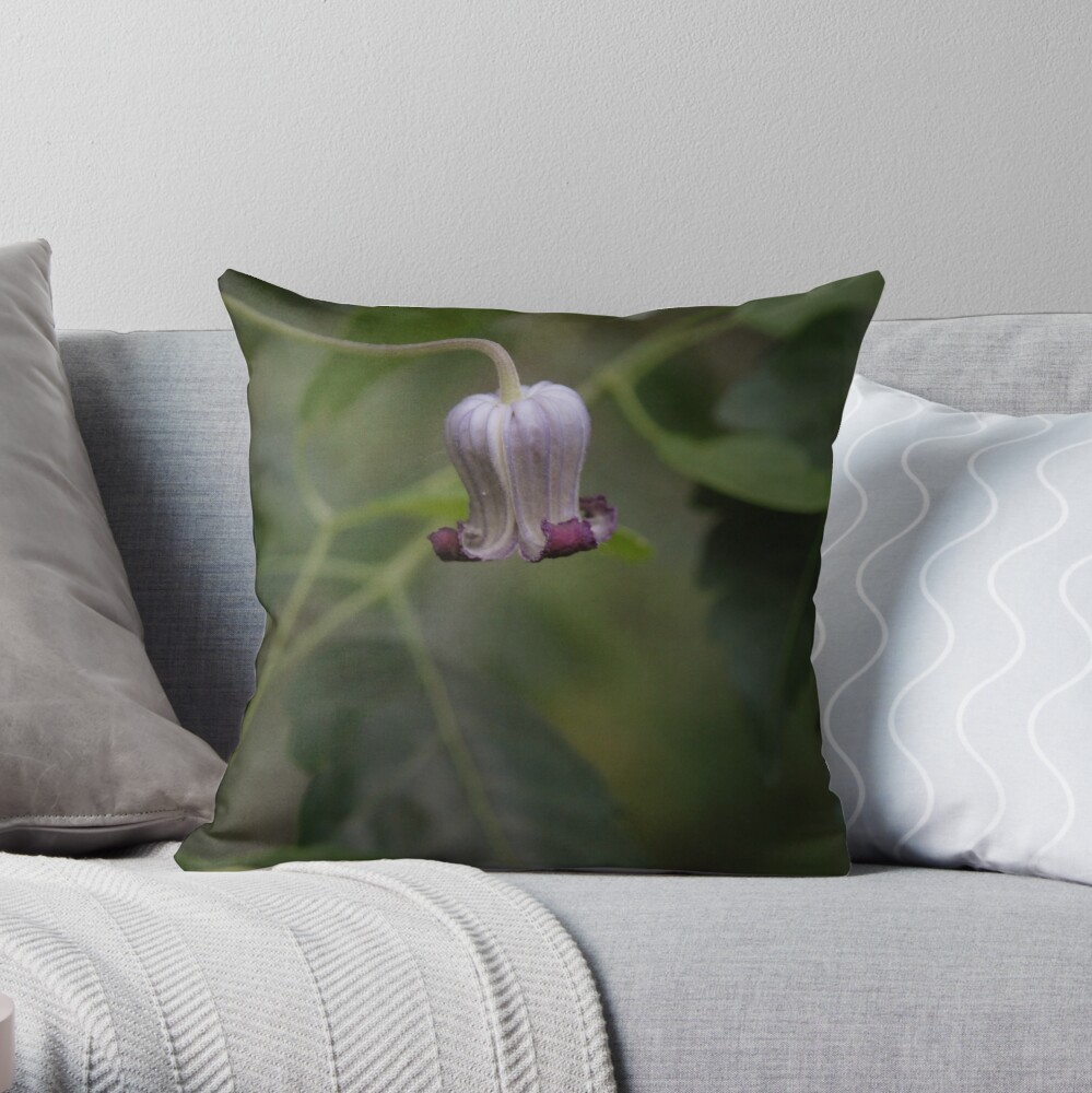 Clematis Pitcheri Throw Pillow