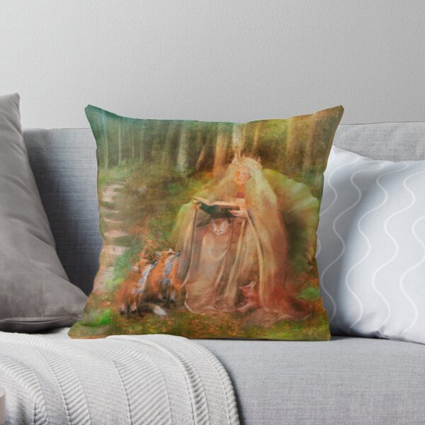 To Spin a Tale Throw Pillow