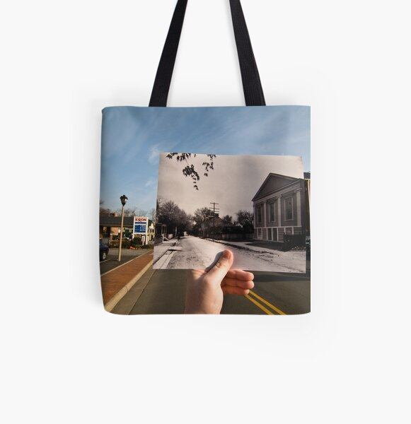 Looking Into the Past: Market Street, Leesburg, VA All Over Print Tote Bag