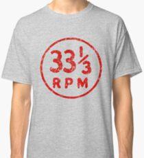 33 1/3 rpm vinyl record icon Classic T-Shirt