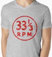 33 1/3 rpm vinyl record icon Men's V-Neck T-Shirt