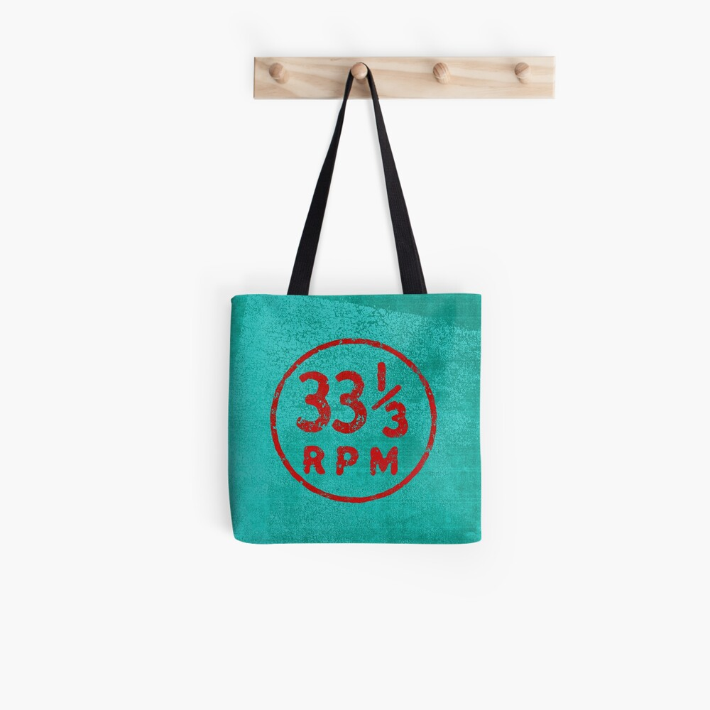 33 1/3 rpm vinyl record icon Tote Bag