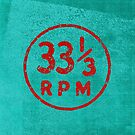 33 1/3 rpm vinyl record icon by Will Ruocco