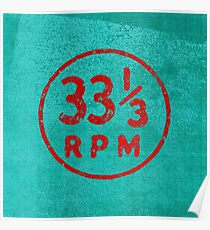 33 1/3 rpm vinyl record icon Poster