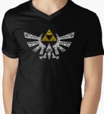 Zelda - Hyrule doodle Men's V-Neck T-Shirt