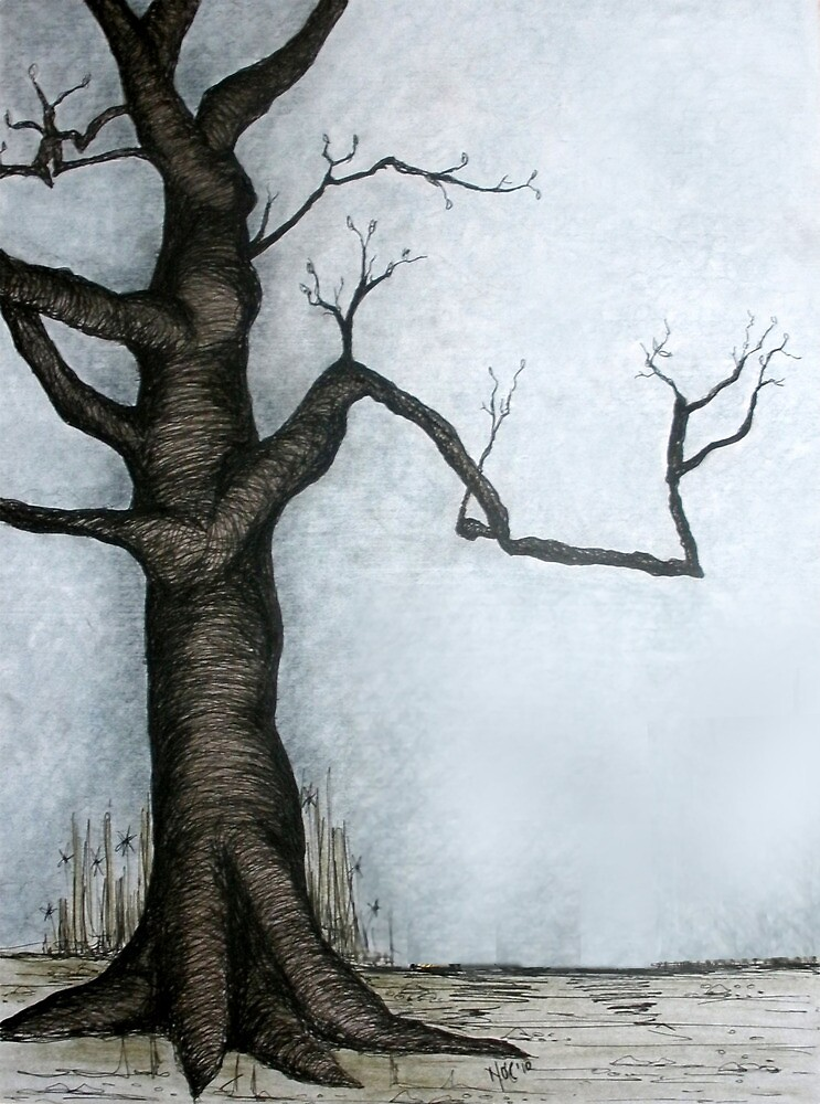 Winter tree by Naomi  O'Connor