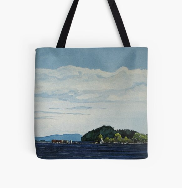 Red Rock Marina - view South West All Over Print Tote Bag