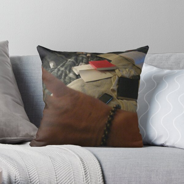 Contemplating a Hand Contemplating a Number of Possible Tasks Throw Pillow
