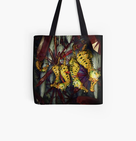 Ocean Invasion #4: Crystal Cave of the Landhorse All Over Print Tote Bag