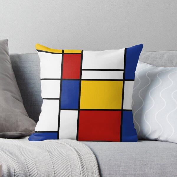 De Stijl #2 (Mondrian Inspired)  Throw Pillow