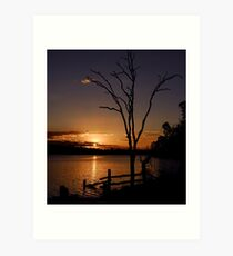 Gordonbrook sunset Art Print