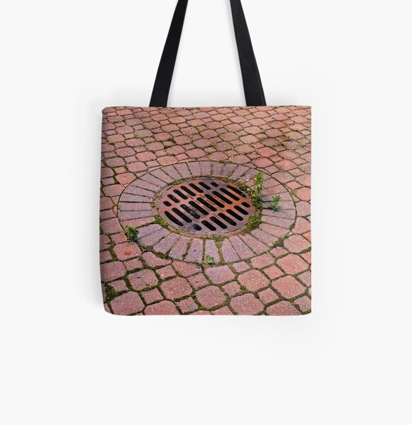 Grate and Pavers All Over Print Tote Bag