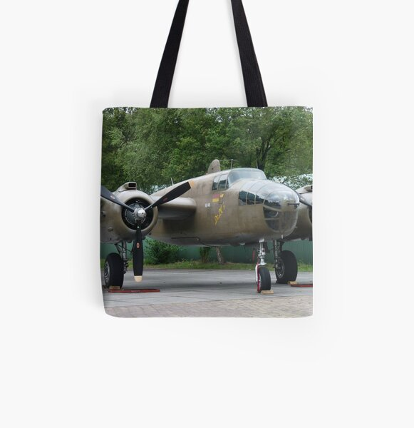 North American B-25  01 All Over Print Tote Bag