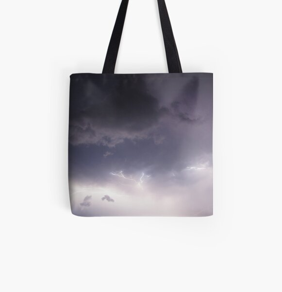 Lightning All Over Print Tote Bag