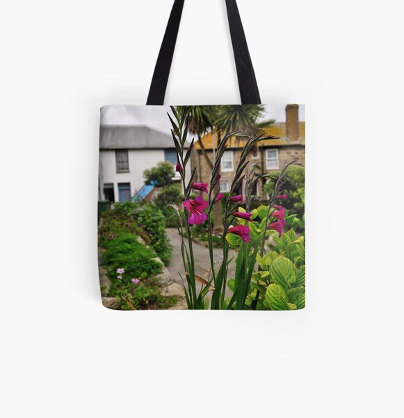Flowers In a Border All Over Print Tote Bag