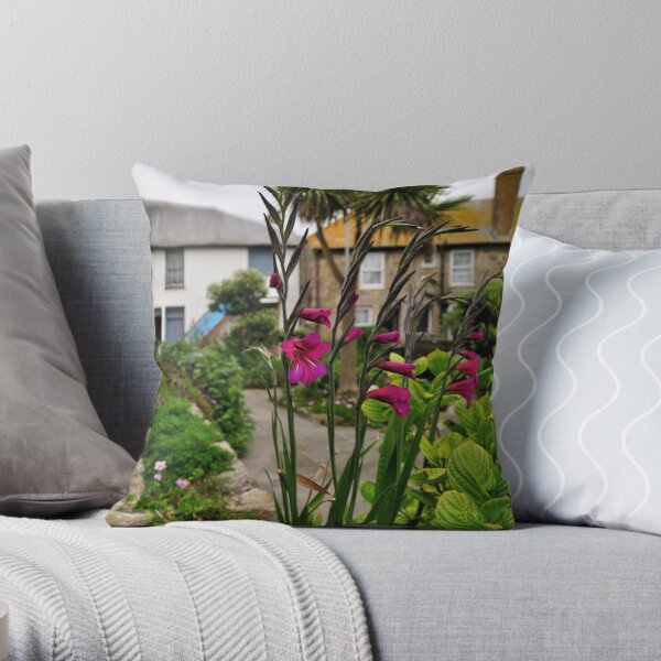 Flowers In a Border Throw Pillow