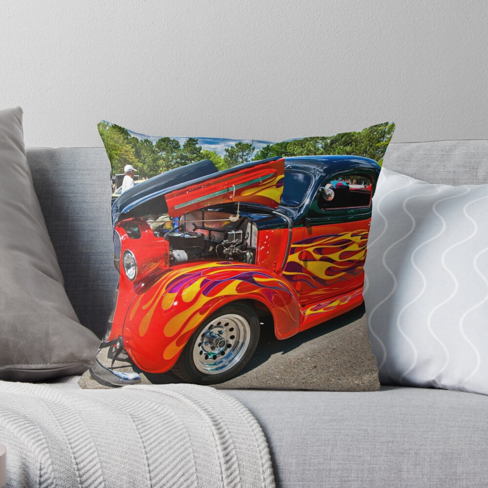 Flame On Throw Pillow
