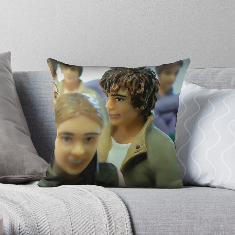 Making a Connection Throw Pillow