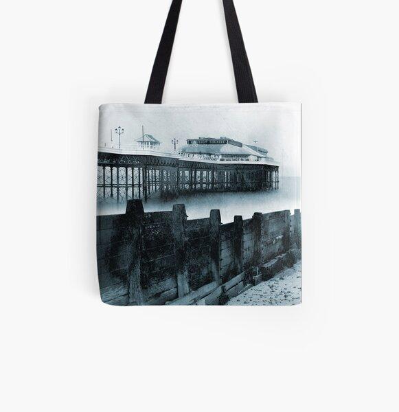 Cromer Pier and Groyne, Norfolk All Over Print Tote Bag