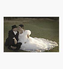 Bride and Groom romance Photographic Print