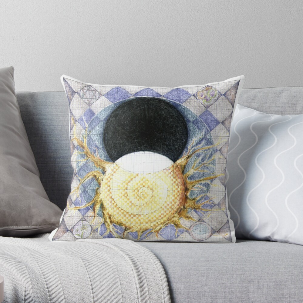 wheel 2: Co-Creative Evolution Throw Pillow