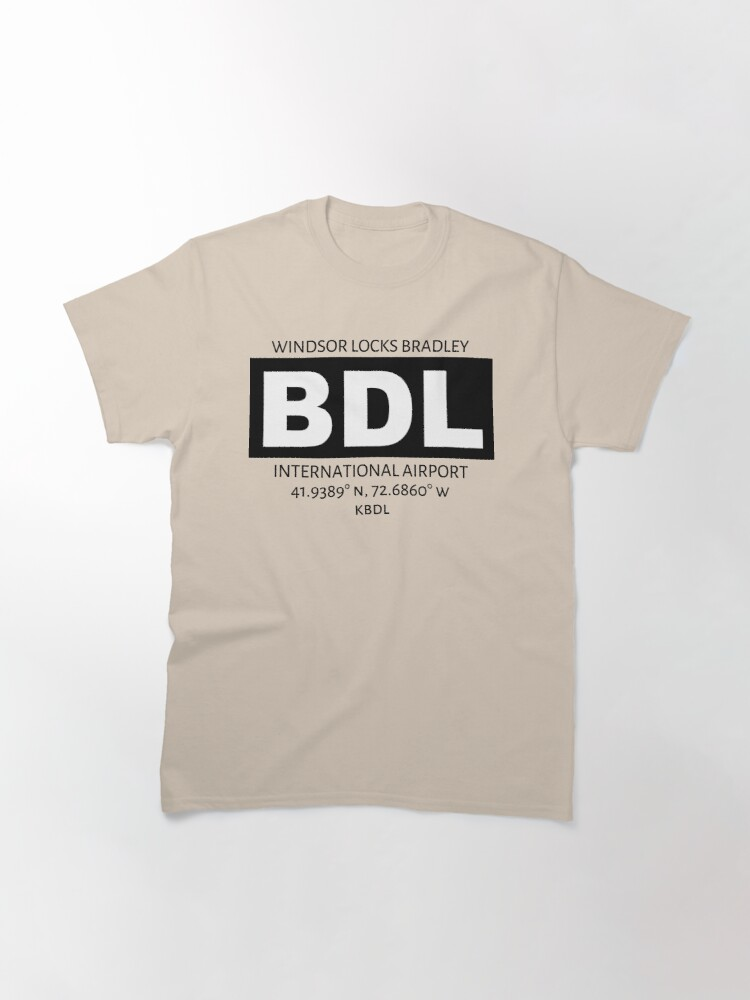 Alternate view of Windsor Locks Bradley Airport Hartford BDL Classic T-Shirt