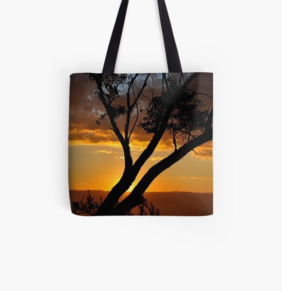Blackheath Lookout NSW Australia - At the End of a Perfect Day All Over Print Tote Bag