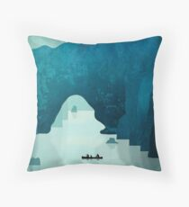 Explore Pont D'Arc Throw Pillow