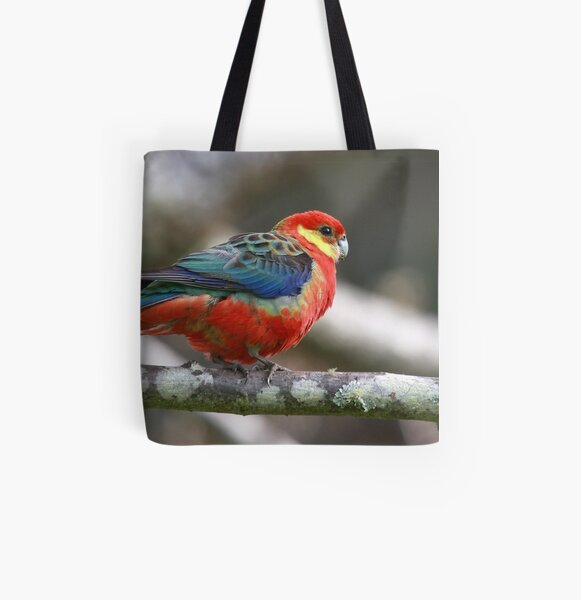 Western Rosella All Over Print Tote Bag