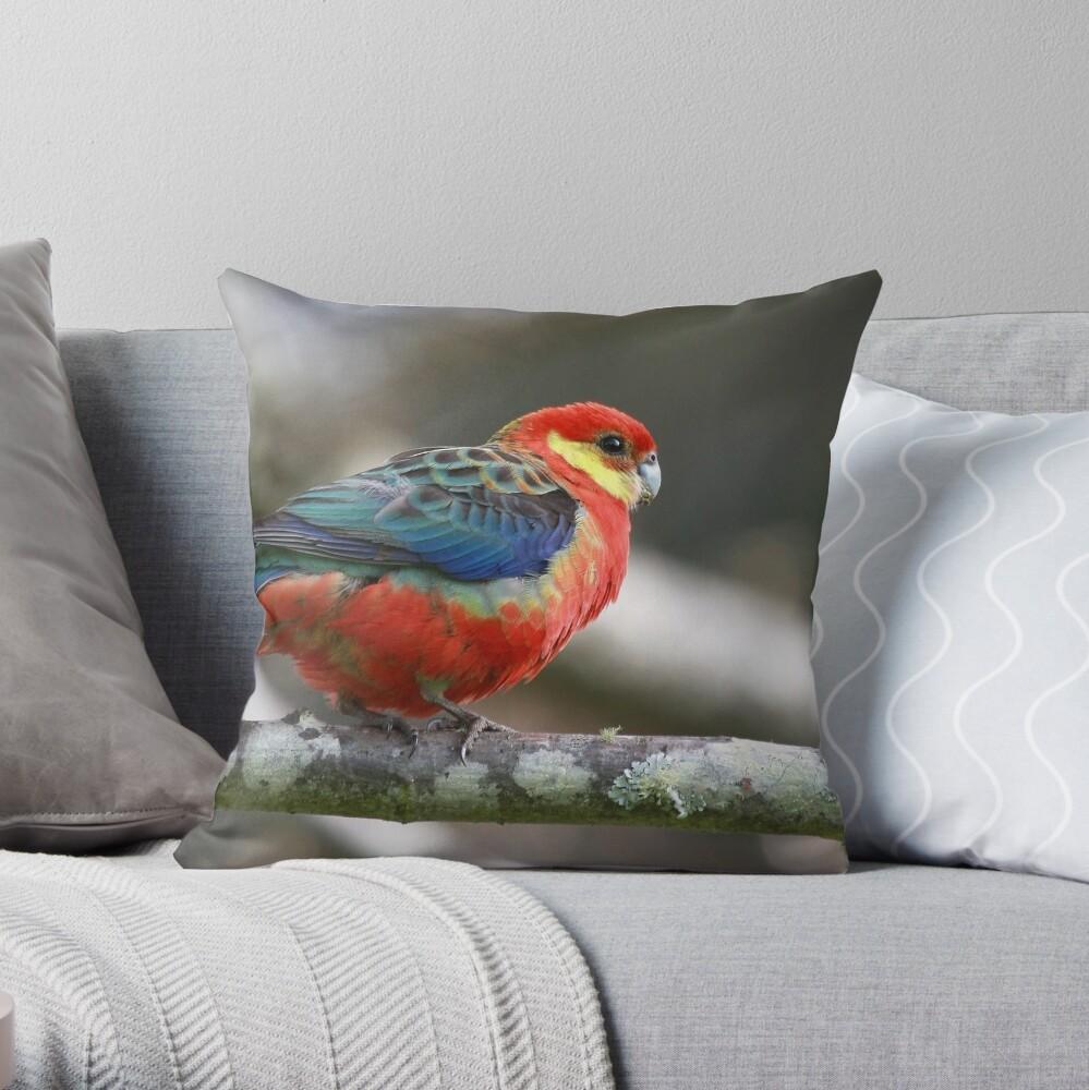 Western Rosella Throw Pillow