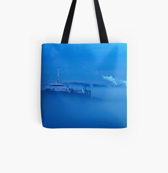 Fog All Over Print Tote Bag