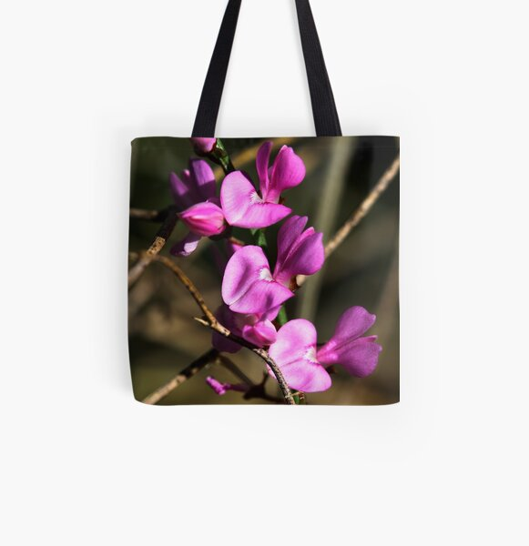 Indigofera australis  All Over Print Tote Bag