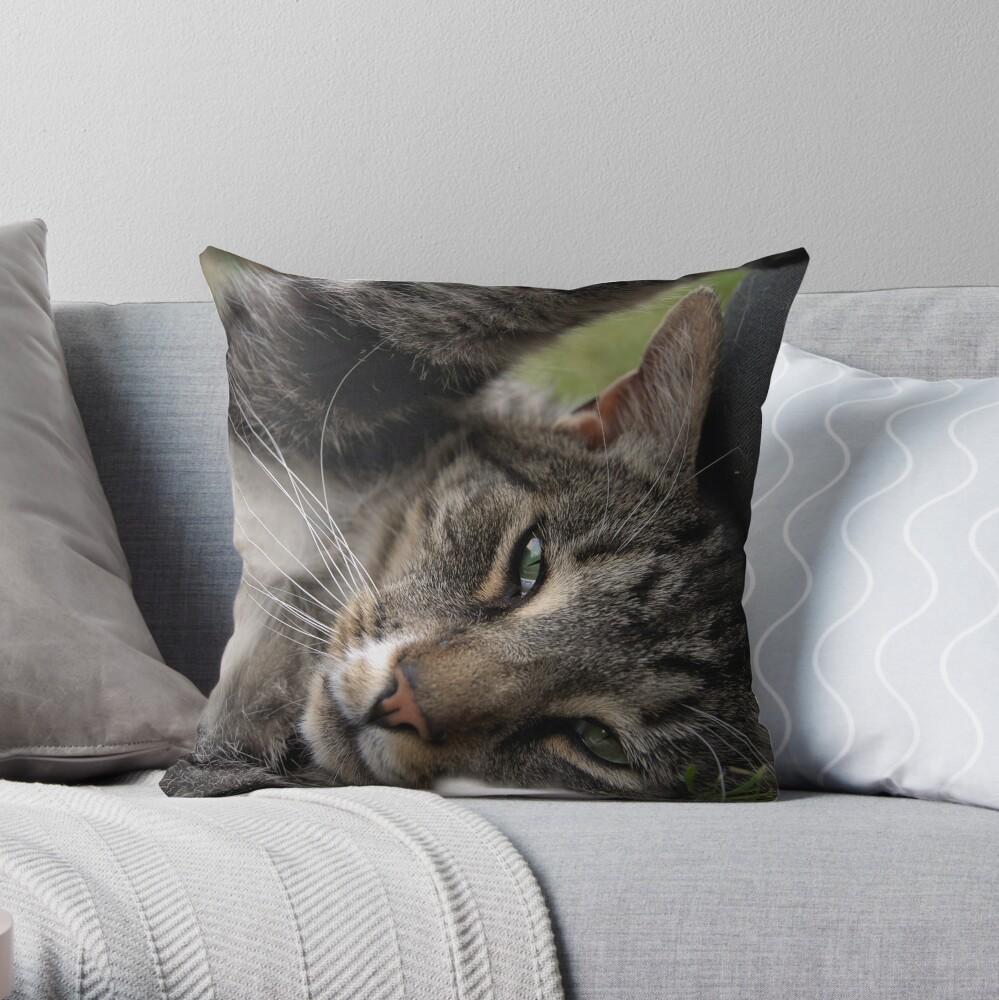 Playful Tiger Throw Pillow