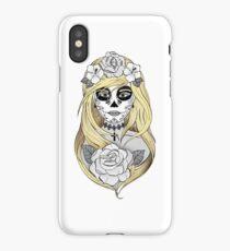 Santa Muerte Blond hair iPhone Case/Skin