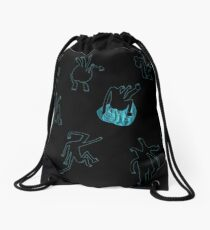 dancing men family  Drawstring Bag