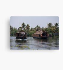 Kerala Houseboats Canvas Print