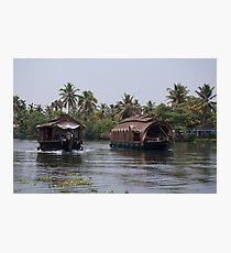Kerala Houseboats Photographic Print